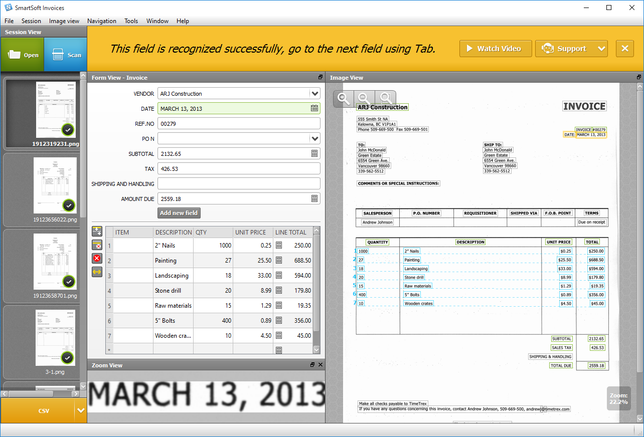 SmartSoft Invoices Help - Invoice automation software